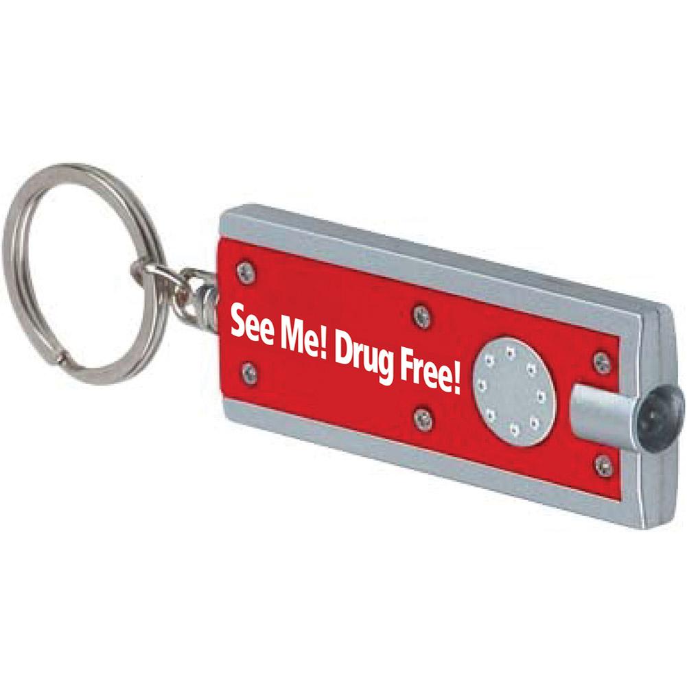 See Me! Drug Free! (10 Pack) Flashlight Keychain