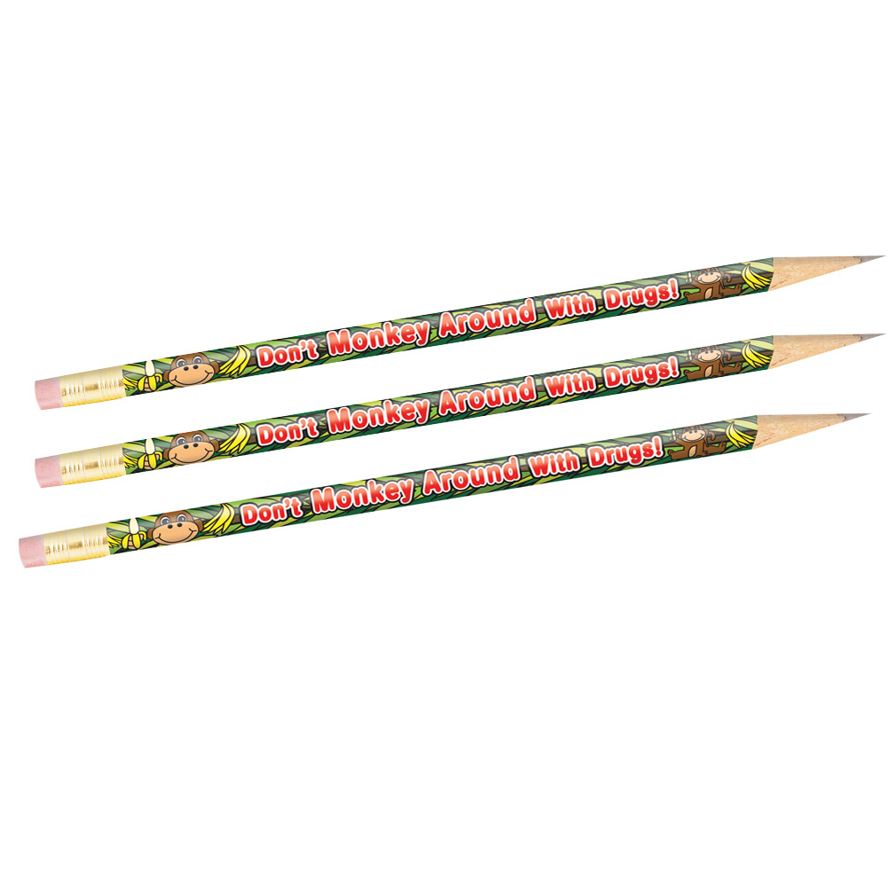 Don't Monkey Around With Drugs (100 Pack) Pencil