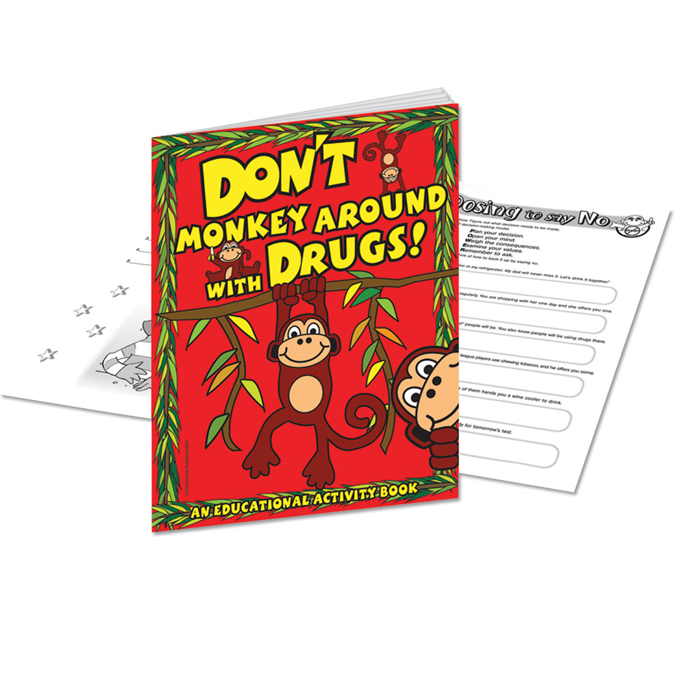 Don't Monkey Around With Drugs (25 Pack) Activity Book