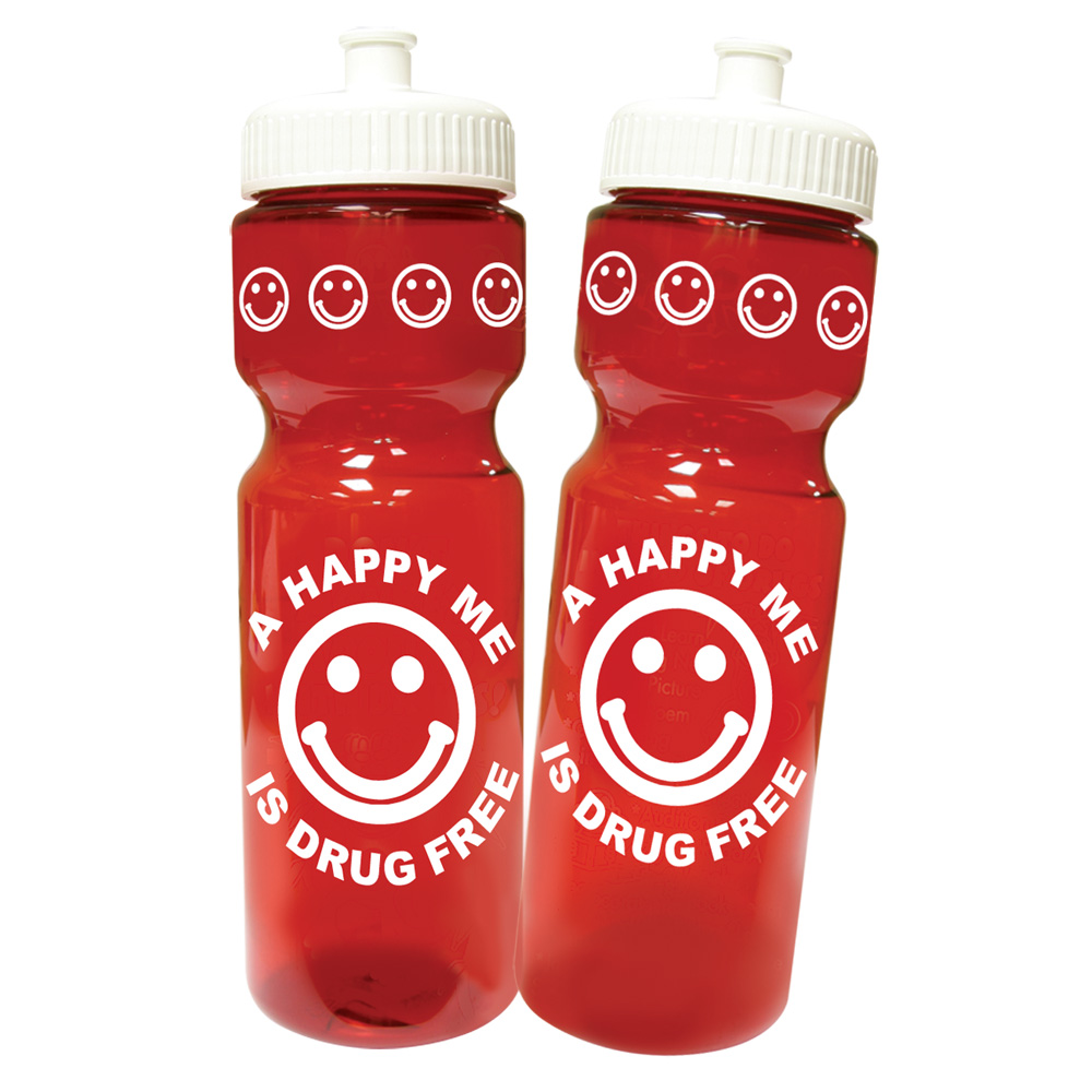 A Happy Me Is Drug Free Water Bottle