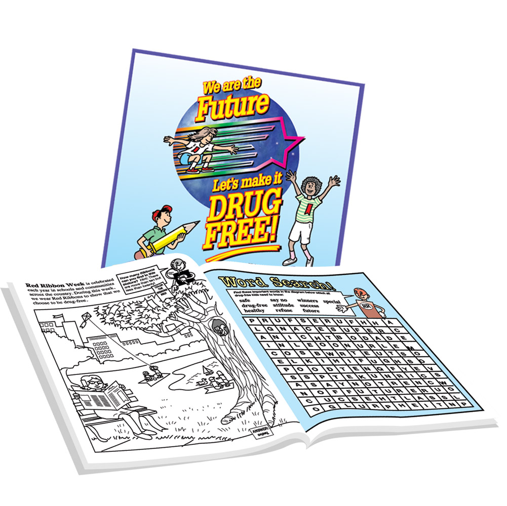 We Are the Future, Let's Make it Drug Free! (25 Pack) Activity Book