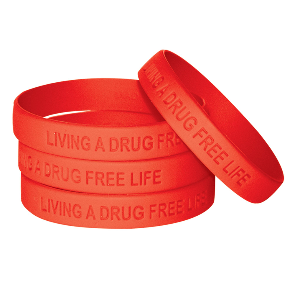 red ribbon tag silicone your wristbands own bracelets bracelet create week