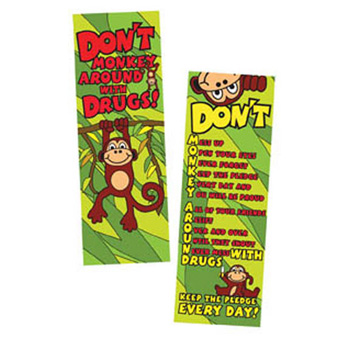 Don't Monkey Around With Drugs (50 Pack) Bookmark