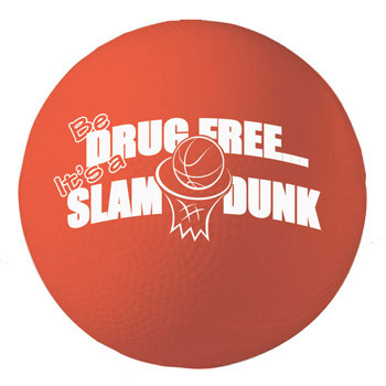 Be Drug Free...It's a Slam Dunk  (10 Pack) Mini Basketball