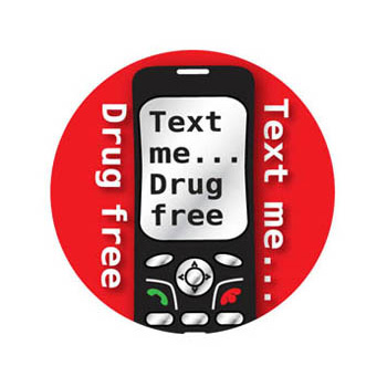 Text Me...Drug Free (200 Pack) Stickers On A Roll