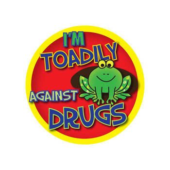 I'm Toadily Against Drugs (200 Pack) Stickers On A Roll