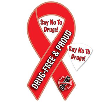 Drug Free & Proud (25 Pack) Ribbon Magnet