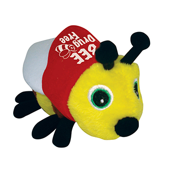 Bee Drug Free Stuffed Beanie Bee
