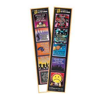 """The Top 10 Reason to Say """"NO"""" to Drugs Bookmark 100 pack"""
