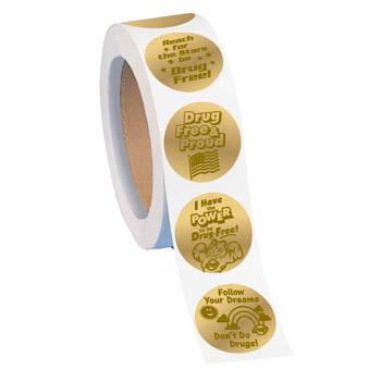 Gold Foil Sticker Assortment Roll