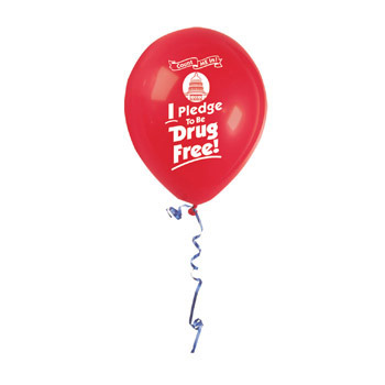 Count Me In! I Pledge to be Drug Free! (50 Pack) Balloon