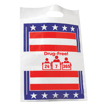 Drug Free 24 7 365 (50 Pack) Poly Bag